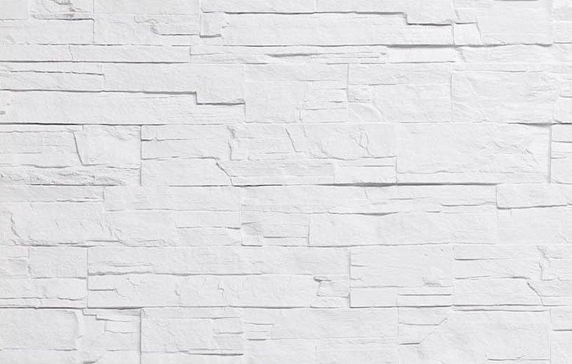 Pierre mince en clats blanche for Fibre de verre salle de bain